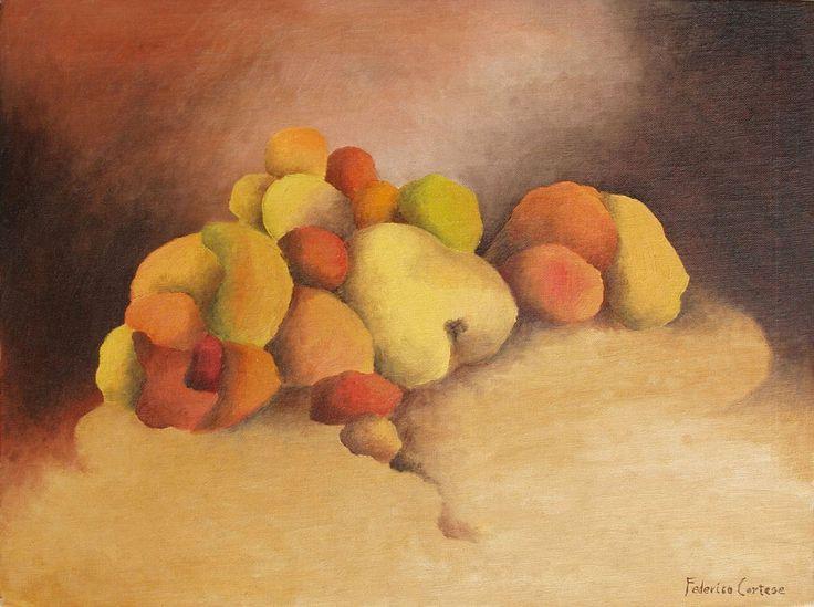 OLIO SU CARTONE TELATO. Oil on canvas, home decor. Natura morta