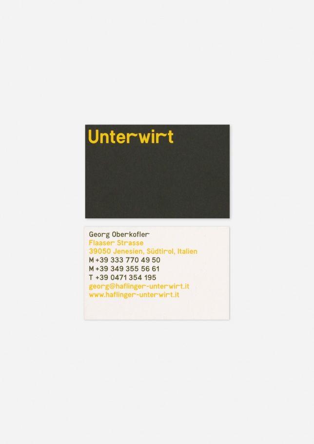 Unterwirt - Hubert & Fischer