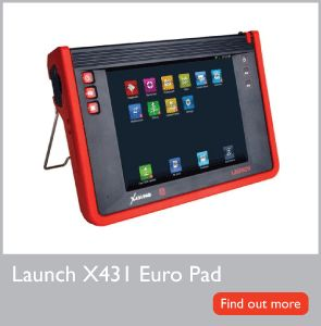 he Euro Pad has the most up-to-date software and coverage which now extends to 75 manufacturers. This brings together the best diagnostics that Launch technology can offer, to more clients, with a greater variety of makes and models in one completely wireless device.