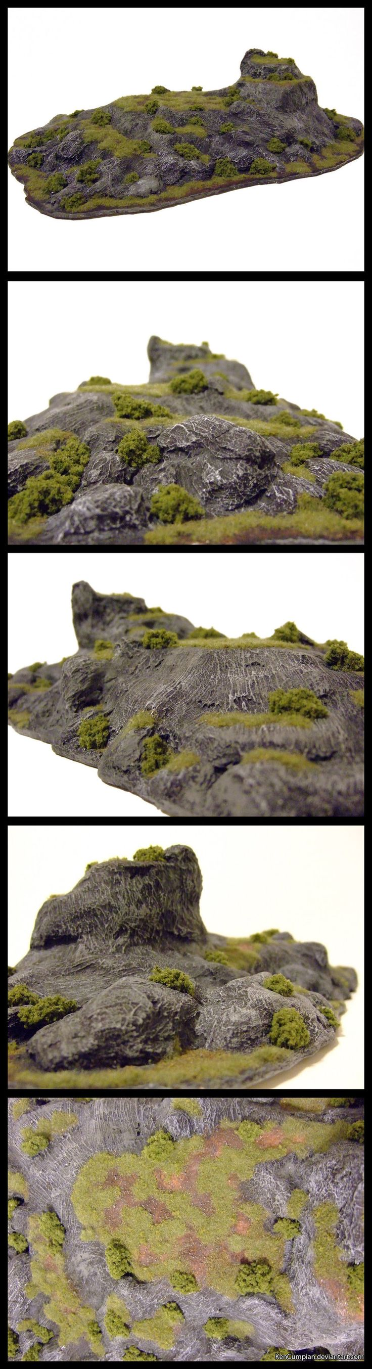 -Wargame Terrain- I tried something a little different this time around. I picked up some filler at the hardware store recently and gave it a go. I don't like how long it takes to dry, but it ...