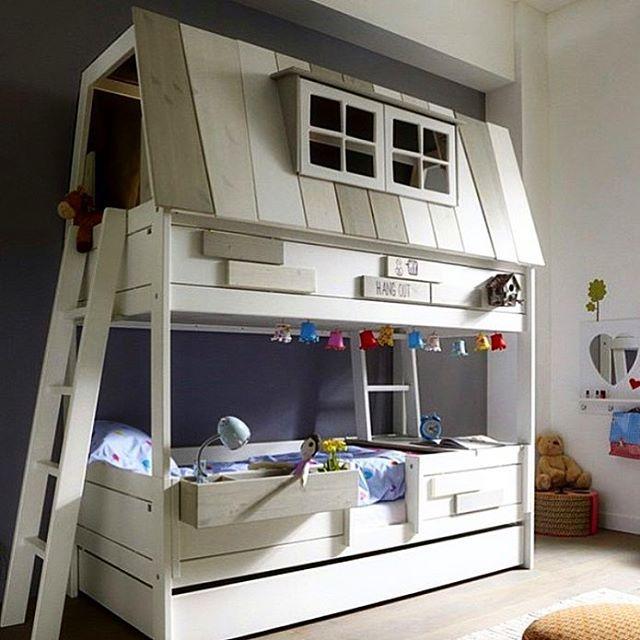 || D a g e n s D I Y  Bild: Pinterest . Så underbar dubbelsäng/våningssäng  #barnrumsinspo #kidsroom #inspo #barnrum