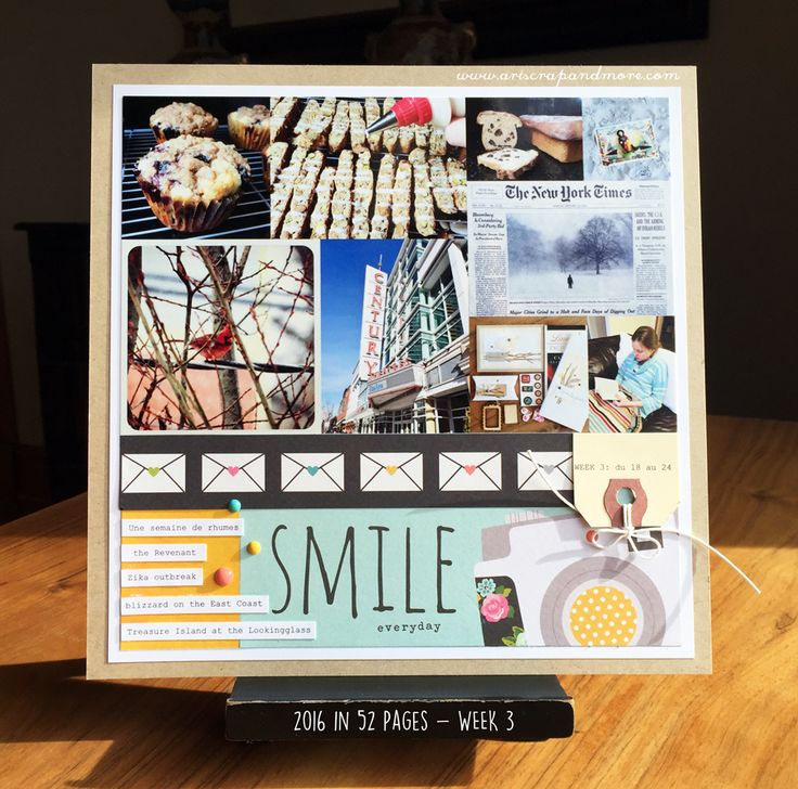 - WEEK 3 - - Scrapbook.com - Love this 12 x 12 version of Project Life!