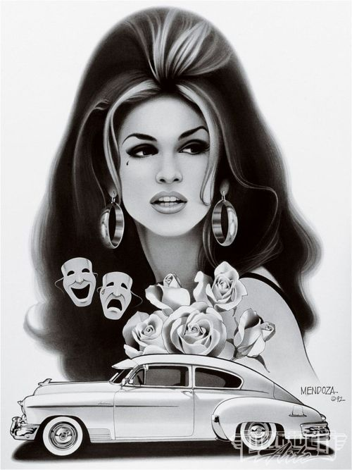 Lowrider Art Girls | lowrider art' design of a Chola.Imagine driving around with this ...