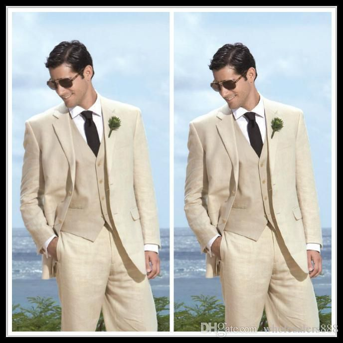You will become such a outstanding man with  custom made liinen groom tuxedos notch lapel men's suit light khaki groomsman/bridegroom wedding/prom suits (jacket+pants+tie+vest) k135 offered by wholesalers888. Besides, DHgate.com also provide tux tail white on black tuxedo and best mens tuxedo.
