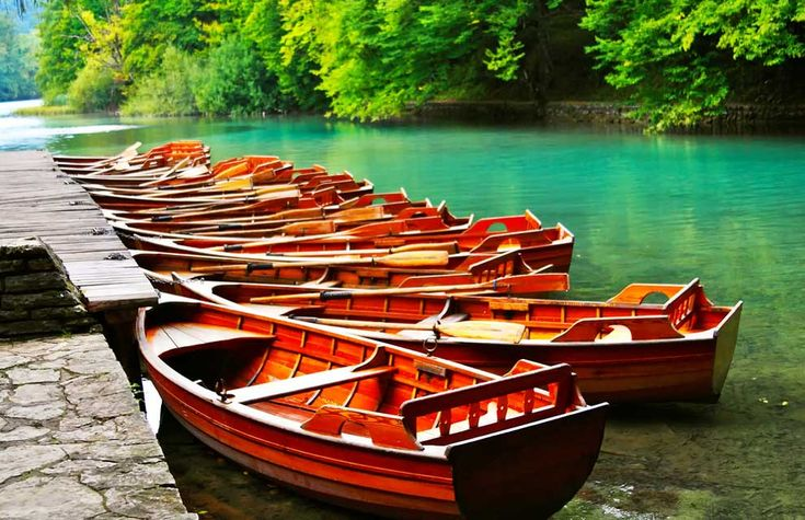 boats.: Favorite Places, Wooden Row, Fish Parties, Wooden Boats, Travel Buckets Lists, National Parks, Paradise, Row Boats, Plitvic Lakes