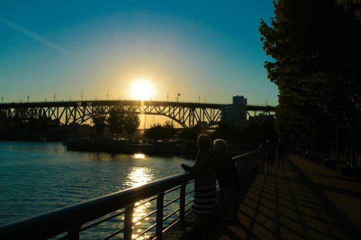 Sunset over Granville Bridge