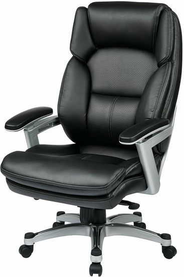 Modern Executive Chairs for Enhanced   Office Performance Office Star Eco-Leather Executive Chair - Leather Executive Chairs