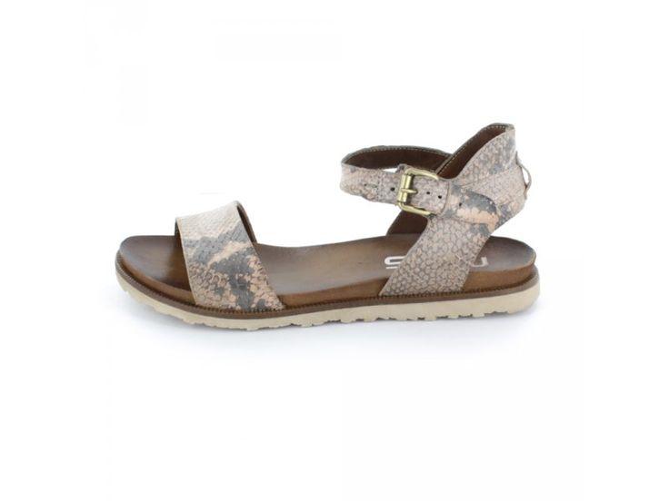 Mjus - Damen Sandalette aus Leder mit Reptil-Optik