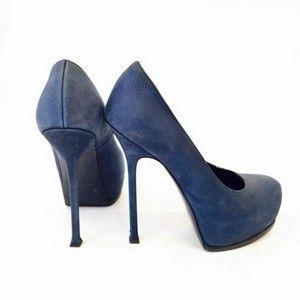 YVES SAINT LAURENT blue shoes size 38