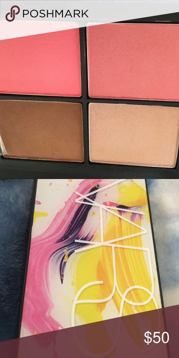 Nars Blame It On Nars palette Shades: Satellite of love, Casino, Daydream blush, New Attitude with It Kabuki brush. New w box. NARS Makeup Blush