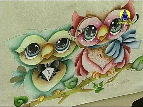 Vida com Arte | Pintura Casal de Corujas em Ecobag por Thanynha Avila - ...