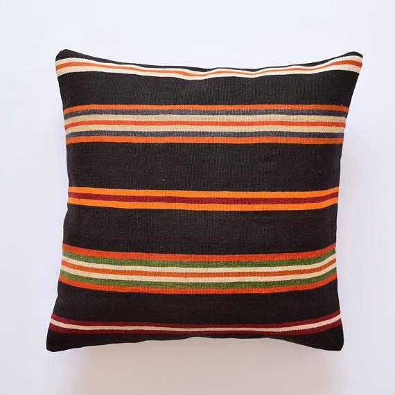 Kilim Pillow 26x26 Pillow Cover Kelim Kussen Handira Cushion Cover