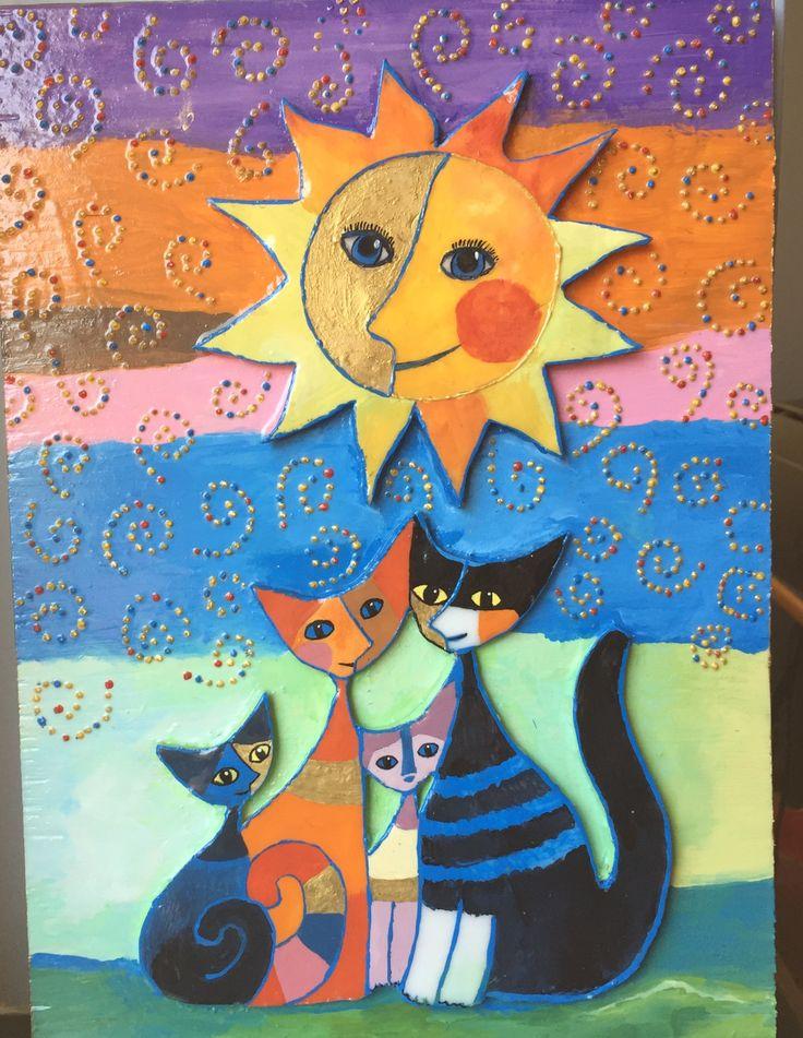 """Quadretto dipinto a mano su legno ispirato ai quadri di """"Rosina"""" con particolari in rilievo. Idea bomboniera si realizzano in vari soggetti e misure. Per informazioni scrivere a: duefioricreazioni@gmail.com"""