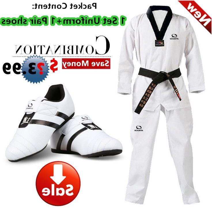 32.29$  Watch now - https://alitems.com/g/1e8d114494b01f4c715516525dc3e8/?i=5&ulp=https%3A%2F%2Fwww.aliexpress.com%2Fitem%2FHot-Good-quality-taekwondo-uniform-Taekwondo-shoes-black-V-neck-mooto-karate-dobok-WTF-approve-cotton%2F32783634658.html - Hot Good quality taekwondo uniform Taekwondo shoes black V-neck mooto karate dobok WTF approve cotton 1 set uniform+1 pair shoes