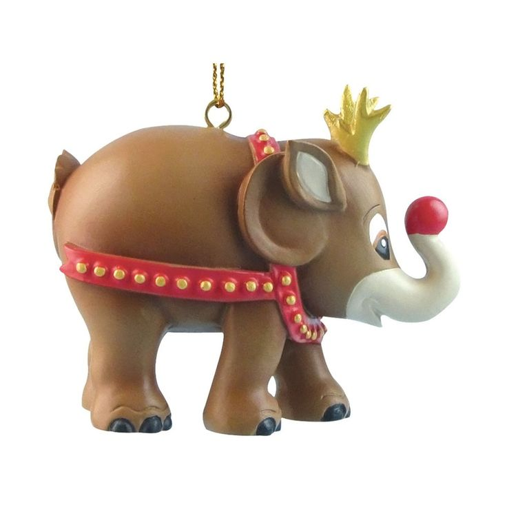 Christmas elephant for hanging, Rudolph