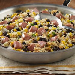 I made this Vienna Sausage Rice Skillet from ReadySetEat. Try the recipe at  http://www.readyseteat.com/recipes-Vienna-Sausage-Rice-Skillet-5678.html