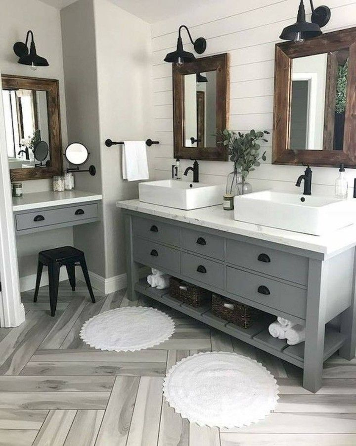 17++ Farmhouse sink double vanity info
