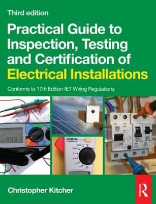 eBook: Practical Guide to Inspection, Testing and Certification of Electrical Installations. This book answers all your questions on the basics of inspection & testing with clear reference to the latest legal requirements. It not only tells you what tests are needed but also describes all of them in a step-by-step manner with the help of colour photos. Click the book cover image to check out this online eBook! Your DEC username & password is required. #electrical #installations #testing