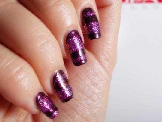 """Nail Art """"Glitter & Stripes"""""""
