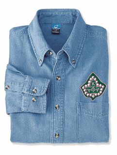 Alpha Kappa Alpha Denim Shirt - Ivy $38.99