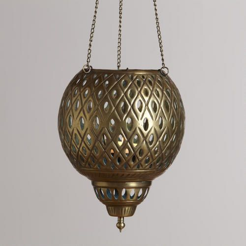 One of my favorite discoveries at WorldMarket.com: Small Hanging Punched Lantern Candleholder