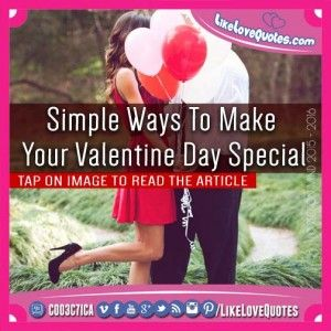 Simple Ways To Make Your Valentine Day Special