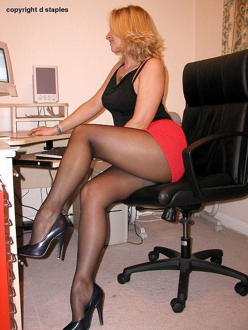 Nice Black Pantyhose She 94