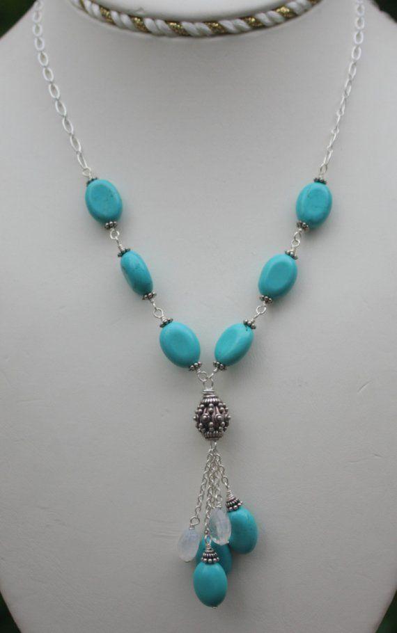 Handmade Gemstone Necklace Turquoise Sterling