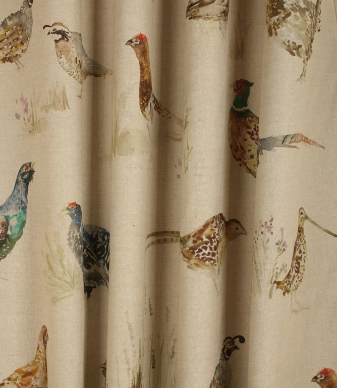 Save 32% On Our Linen Game Birds Traditional Fabric From