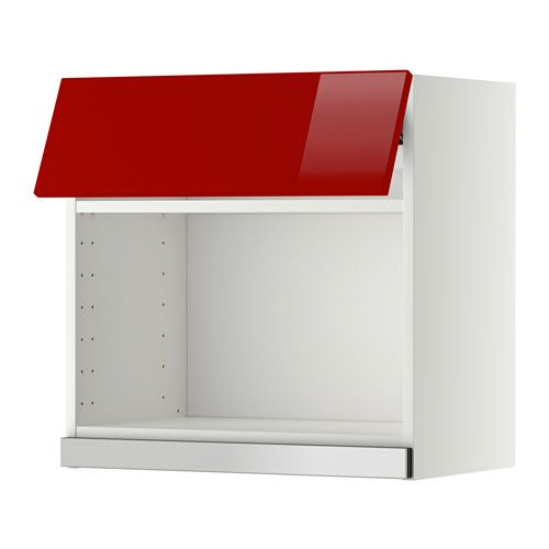 METOD Wall cabinet for microwave oven IKEA You can customise spacing as you need, because the shelf is adjustable.