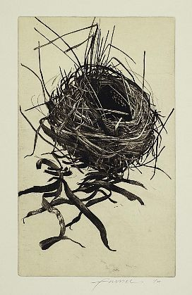 Mary Farrell-'Wrapped', etching, 14 3/4 x 8 3/4, 2012