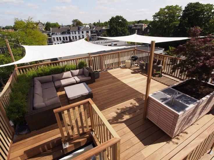 Vind afbeeldingen van modern Balkon, veranda & terras: Schaduwdoeken. Ontdek de mooiste foto's & inspiratie en creëer uw droomhuis.