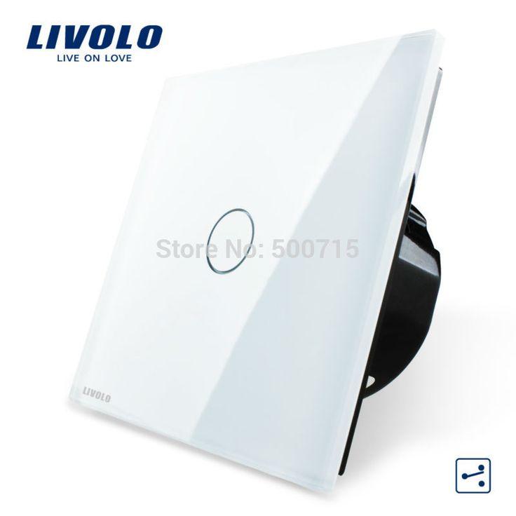Livolo ЕС Стандартный Настенный Выключатель 2 Способ Управления Выключатель, хрусталь Стеклянные Панели, стены Света Сенсорный Экран Выключатель, VL-C701S-1/2/5