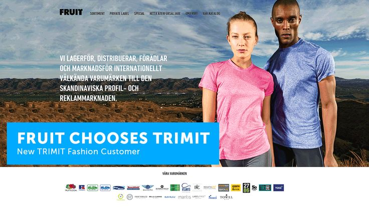Swedish apparel distributor FRUIT has selected TRIMIT Fashion as its new ERP software solution and TRIMIT partner EVRY as its implementation partner  New #TRIMIT Fashion customer.   Complete software solution for apparel, garment, accessories & footwear