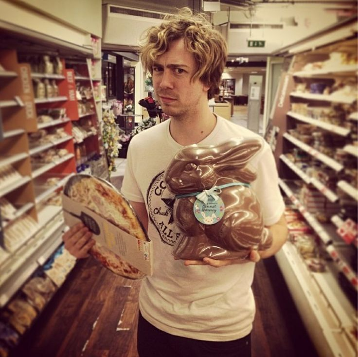 James Bourne getting snacks for tour