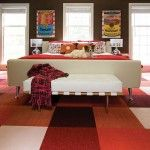 Colorful Living Room Carpet Tiles Various White And Red Color For The Bederooms