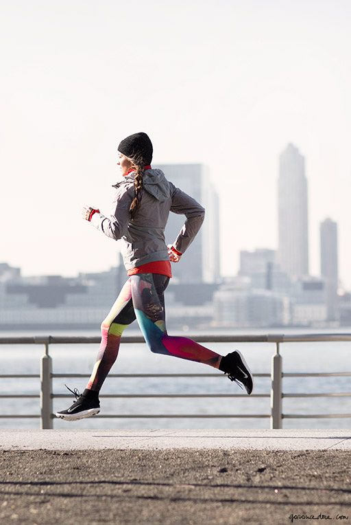 Winter running, New York City, fitness, body, training, Nike / Garance Doré
