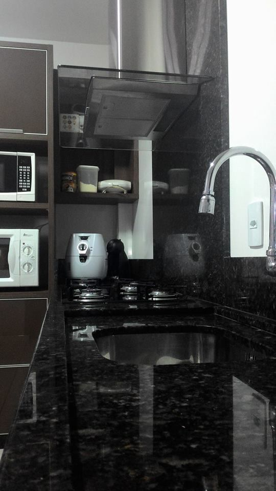 Cozinha, com granito verde ubatuba