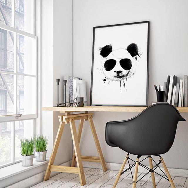 'Cool Panda' #poster #interior #design #print #office #home