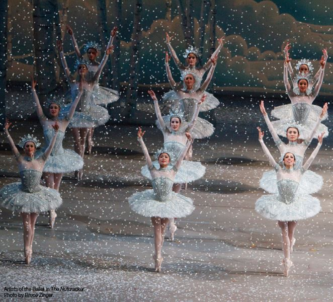 #NutcrackerNumbers: 10 pounds of paper snow released in the snow scene. The National Ballet of Canada