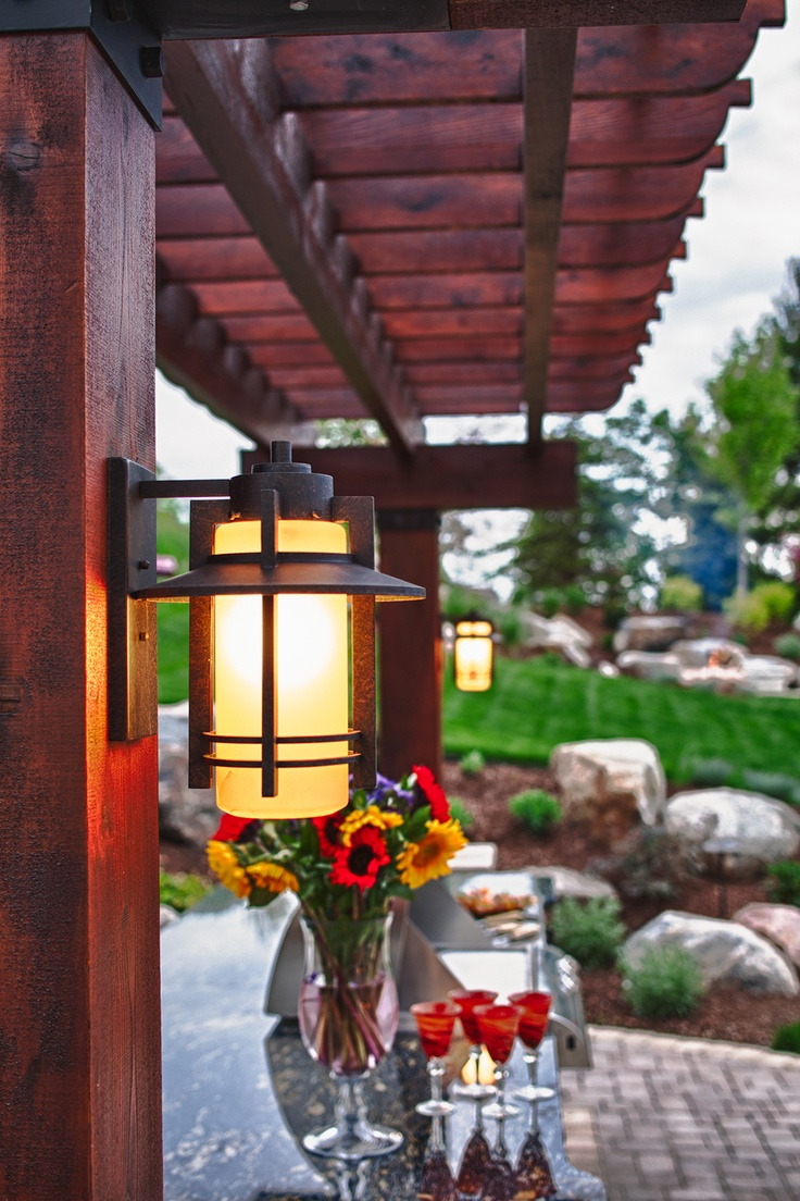 Pergola decorative exterior lamp architectural photography residential landscape