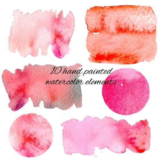 Watercolor Background Clipart Set 1 Sfondo Acquerello Clip