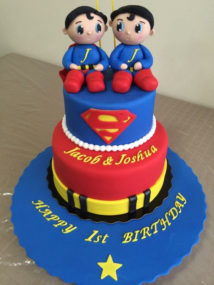 Superman twin fondant