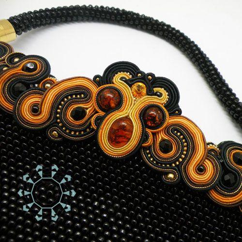 Evening bag, earings and bracelet (set) | Tender December