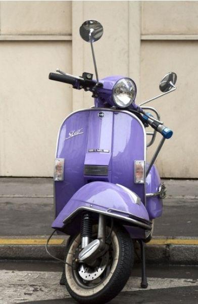 purple scooter