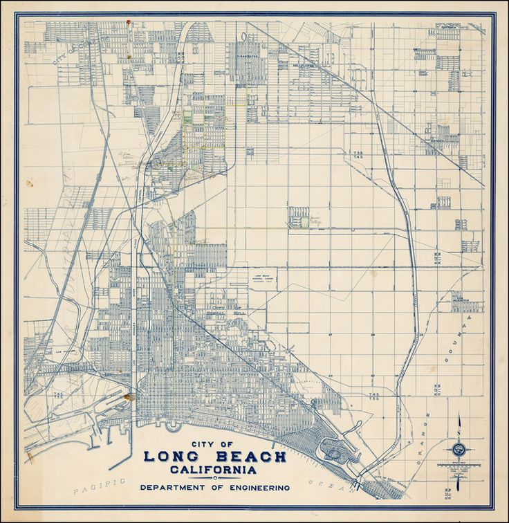 City of Long Beach California -- Department of Engineering - Barry Lawrence Ruderman Antique Maps Inc.