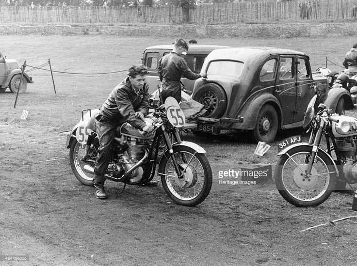 BSA Motorcycle At Crystal Palace, 1956.