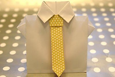 Paper shirts.  Cute idea for a handout  on the Priesthood lesson or Father's Day card.