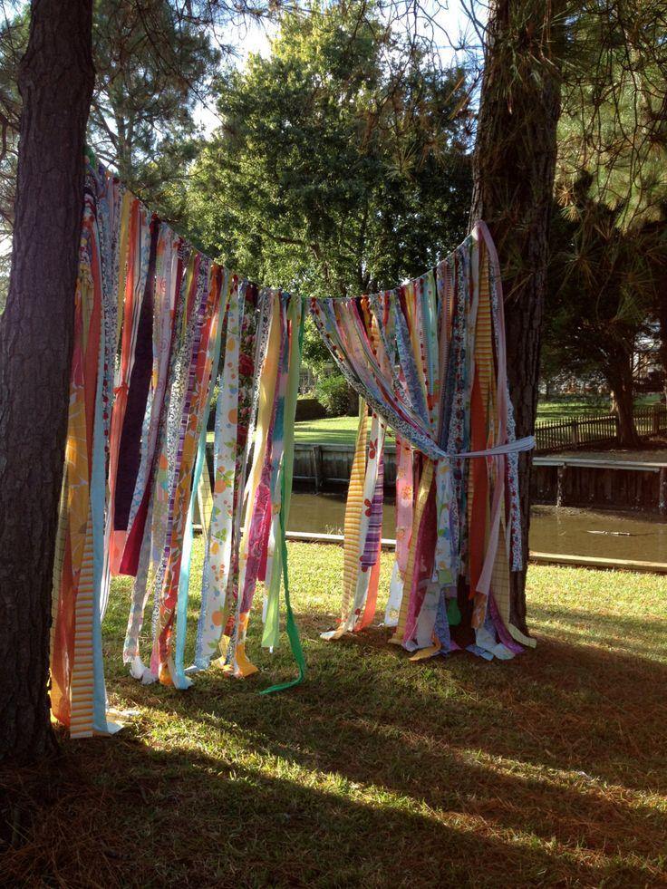 Gypsy Boho Curtain Fabric Garland Backdrop Dorm By