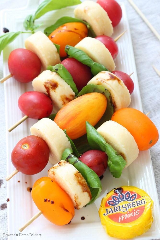A summer favorite - caprese skewers!